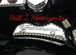 Chrome Ball Cut Engraved Front Tank Pad!