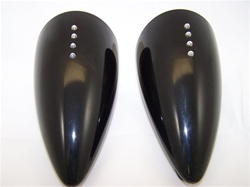 Custom Black ST Machine Pig Spotter 2 Mirrors with Amber LED Turn Signals