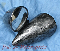 Black/Silver Smoke Skull ST Machine Pig Spotter 2 Mirrors