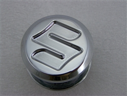 "Hayabusa GSXR Exhaust Mount Cap/Peg Plug with ""S"" Logo"