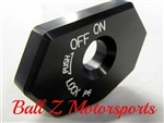 2008-2013 Hayabusa Black Silver Engraved Ignition Cover Key Cap