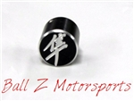 Hayabusa Black/Silver Engraved Ring Kickstand Center Nut Cover w/Logo