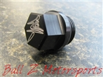 Black/Silver Hayabusa 3D Hex Engraved Ball Z Oil Cap