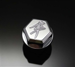 Chrome Engraved 3D Hex Oil Filler Cap w/Smooth Edges