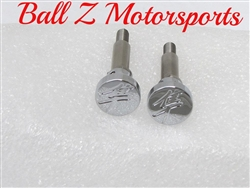 Hayabusa Chrome  Engraved Kanji Brake & Clutch Lever Bolts