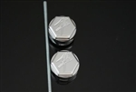 Hayabusa Chrome 3D Hex Kanji Engraved Front Axle Caps w/Smooth Edges