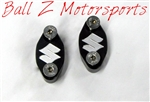 "Black/Silver Engraved ""S"" Brake & Clutch Mastercylinder/Reservoir Clamps"