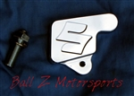 "Chrome Hayabusa Kickstand Switch/Bolt Cover ""S"" Logo Engraving"
