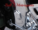 Chrome Ball Cut Hex Kanji Engraved Swingarm Bolt Frame Covers