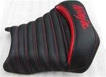"Custom 250R Ninja ""New Image"" Carbon Fiber Red Pin & Tuck Custom Driver Seat"