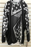 Fly Racing Black/White Kinetic Mesh Offroad Motorcross MX Riding Jersey SZ L