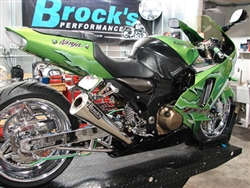 "Brock's Performance Alien Head 20"" Muffler Kawasaki ZX-12 (00-05) Exhaust System"