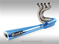 Brock's Performance Tiwinder Blue Street Baffle Suzuki B-King (08-09) Exhaust System