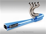 Brock's Performance Tiwinder Blue Race Baffle Suzuki B-King (08-09) Exhaust System