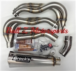"Brock's Performance Polished Alien Head 2 14"" Muffler Kawasaki ZX-14R Exhaust System"