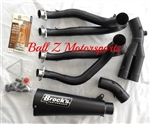 "Brock's Performance Alien Head 2 Black 14"" Muffler Kawasaki ZX-14R 2012 Exhaust System"