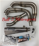 "Hayabusa Brock's Peformance Polished 14"" Alien Head 2 Full Exhaust System"