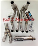 "Hayabusa Brock's Peformance Polished 14"" Short Megaphone 2 Full Exhaust System"