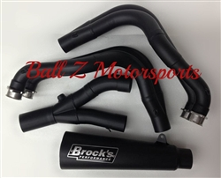 "Hayabusa Brock's Peformance Black Ceramic Coated 14"" Short Meg 2 Full Exhaust System"