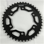 Vortex 42 Tooth 530 Pitch Vortex Black Steel Rear Sprocket
