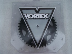 Hayabusa/TL1000 Vortex 40 Tooth 530 Pitch PTFE Hard Coated Solid F5 Black Rear Sprocket