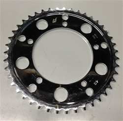 BLEMMED Driven Racing Chrome Steel 43 th tooth 530 Pitch Rear Sprocket