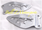 2001-2013 GSXR 600/750/1000 Chrome Heel Guards