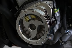 Custom Billet Chrome See Through Stator Cover