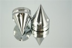 ZX-14 Chrome 24mm Hex Spike Fork Caps