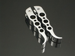 Chrome Hayabusa GSXR Tribal Front Foot Pegs