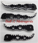 Custom Black Anodized & Silver Ball Cut Suzuki Hole Shot Front & Rear Foot Pegs