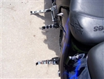 Chrome Hayabusa/GSXR Tribal Front & Rear Foot Pegs