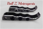 Custom Black Anodized & Silver Ring Cut Suzuki Tribal Front Foot Pegs