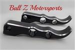 Custom Black Anodized & Silver Ring Cut Suzuki Tribal Rear Foot Pegs