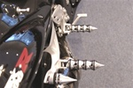 Chrome Suzuki Spike Front & Rear Foot Pegs