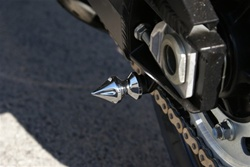 Chrome Spike Swingarm Stand Spools