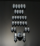 28 Piece Custom Chrome Grooved Spike Fairing Bolt Kit!