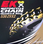 EK ZVX2 150 Link 530 pitch Gold Chain