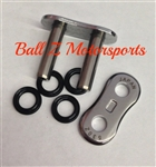 530Z/3D/C-MLJ EK Chrome Rivet Masterlink for (3D) Z  530 Pitch Motorcycle Chains