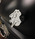 Hayabusa Custom Chrome Huge 3D Kanji No Cut Frame Savers w/Smooth Edges