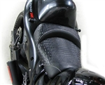 Hayabusa Custom Shaped Black Gator Front Seat w/Silver Stitching