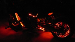 "25 Piece 504 LED Complete Motorcycle ""Big Baller"" Red Lighting Kit With 2 Remotes"