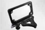 Side Mount Tag Bracket Smooth Black Anodized