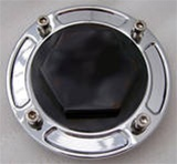 Black/Silver/Chrome 3D Kanji Gas Cap