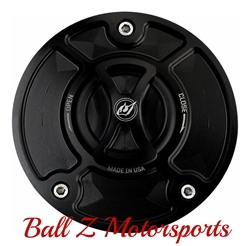 Hayabusa GSXR 600/750/1000 Custom Black Anodized Driven Racing D-Axis Fuel Lid/Gas Cap