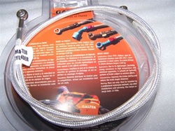 Chrome Galfer Platinum Rear Brake Line (stock length)