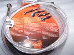 +9 Inch Extended Chrome Galfer Platinum Rear Brake Line
