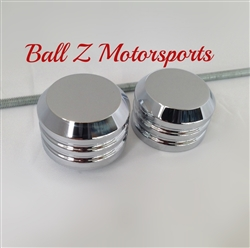 Suzuki Hayabusa Chrome Smooth Front Axle Caps