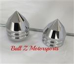 Suzuki Hayabusa Chrome Smooth Bullet Spike Front Axle Caps