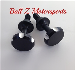 Black/Silver Ball Cut Smooth Frankenstein Cargo Bolts